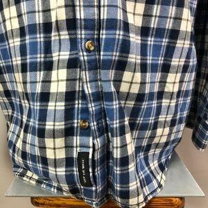 Vans Shirts - Vans blue/beige plaid cotton buttoned shirt Sz XL